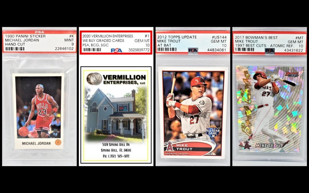 Vermillion Enterprises buys graded sports cards and memorabilia. Authenticated autographs, raw pre-1980's cards and more. Serving Brooksville, Crystal River, Dade City, Floral City, Holiday FL, Homosassa, Hudson Fl, Inverness FL, Land O Lakes, Lecanto, Lutz FL, New Port Richey, Odessa FL, Spring Hill, Wesley Chapel, Zephyrhills